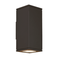 Tegel 12 Outdoor Wall Black 3000K 80 CRI, Button Photocontrol, Uplight & Downlight WWC