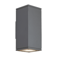 Tegel 12 Outdoor Wall Charcoal 4000K 80 CRI, Button Photocontrol, Downlight Only NC