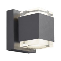 Voto 6 Outdoor Wall Charcoal 3000K 80 CRI Uplight & Downlight Surge Protection