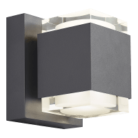 Voto 8 Outdoor Wall Charcoal 3000K 80 CRI Uplight & Downlight