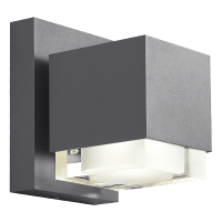 Voto 8 Outdoor Wall Charcoal 4000K 80 CRI Downlight Only