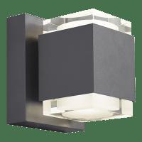 Voto 8 Outdoor Wall Charcoal 4000K 80 CRI Uplight & Downlight