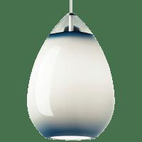 Alina Grande Pendant Steel Blue Satin Nickel no lamp