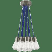 Alva Pendant 11-LITE Chandelier Blue satin nickel 3000K 90 CRI led 90 cri 3000k 120v (t24)