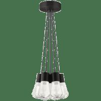 Alva Pendant 7-LITE Chandelier Gray Black 3000K-2200K 90 CRI led 90 cri warm color dimming 3000-2200k 120v (t24)