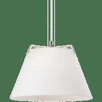 Devin Pendant White Polished Nickel/White no lamp