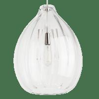 Harper Pendant Clear Satin Nickel No Lamp