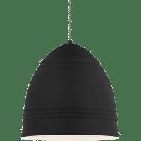 Loft Grande Pendant Rubberized Black w/ White Interior 2700K 90 CRI a19 led 90 cri 2700k 120v (t20/t24)