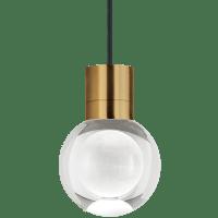 Mina Pendant 1-LITE Clear Aged Brass Black 2200K 90 CRI LED 90 CRI 2200k 120v (t24)