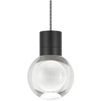 Mina Pendant 1-LITE Clear Black Black/White 3000K-2200K 90 CRI LED 120v (t24)