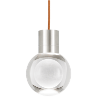 Mina Pendant 1-LITE Clear Satin Nickel Copper 2200K 90 CRI LED 90 CRI 2200k 120v (t24)