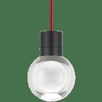 Mina Pendant 1-LITE Clear Black Red 3000K-2200K 90 CRI LED 120v (t24)
