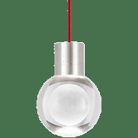 Mina Pendant 1-LITE Clear Satin Nickel Red 3000K 90 CRI LED 120v (t24)