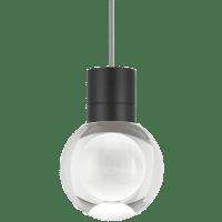 Mina Pendant 1-LITE Clear Black Gray 3000K 90 CRI LED 120v (t24)