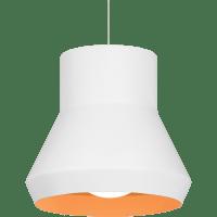Milo Pendant White Outside/Orange Inside No Lamp