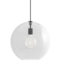 Palestra Large Pendant Opal/Clear Nightshade Black no lamp