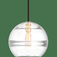 Sedona Large Pendant Clear Aged Brass No Lamp