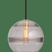 Sedona Large Pendant Transparent Smoke Aged Brass No Lamp