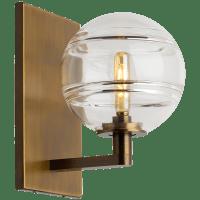 Sedona Wall Clear Aged Brass no lamp