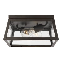 Founders Two Light Outdoor Flush Mount Antique Bronze