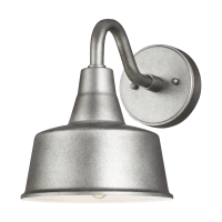 Barn Light Small One Light Outdoor Wall Lantern Weathered Pewter