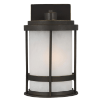 Wilburn Small One Light Outdoor Wall Lantern Antique Bronze Bulbs Inc