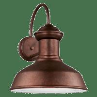 Fredricksburg Large One Light Outdoor Wall Lantern Weathered Copper