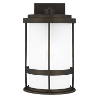 Wilburn Medium One Light Outdoor Wall Lantern Antique Bronze Dark Sky