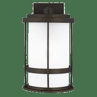 Wilburn Medium One Light Outdoor Wall Lantern Antique Bronze Bulbs Inc Dark Sky