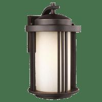 Crowell Medium One Light Outdoor Wall Lantern Antique Bronze Bulbs Inc
