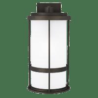 Wilburn Large One Light Outdoor Wall Lantern Antique Bronze Bulbs Inc