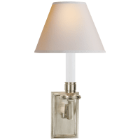 Dean Library Sconce in Brushed Nickel with Natural Paper Shade