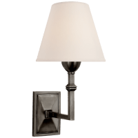 Jane Wall Sconce in Gun Metal with Natural Paper Shade