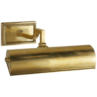 """Dean 9"""" Picture Light in Natural Brass"""