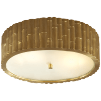 Frank Large Flush Mount in Natural Brass with Frosted Glass