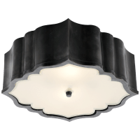 Balthazar Flush Mount in Gun Metal with Frosted Glass