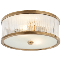 Randolph Large Flush Mount in Hand-Rubbed Antique Brass