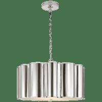 Markos Large Hanging Shade in Polished Nickel