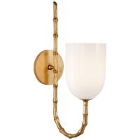 Edgemere Wall Light in Gild with White Glass