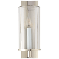 Deauville Single Sconce in Polished Nickel with Clear Glass