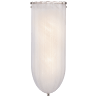 Rosehill Linear Wall Light in Polished Nickel with White Strie Glass