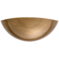Irving Wall Washer in Hand-Rubbed Antique Brass