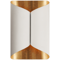 Selfoss Sconce in Plaster White with Gild Interior