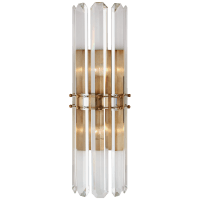 Bonnington Tall Sconce in Hand-Rubbed Antique Brass