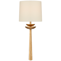 Beaumont Medium Tail Sconce in Gild with Linen Shade