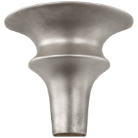Lakmos Small Sconce in Burnished Silver Leaf
