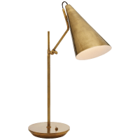 Clemente Table Lamp in Hand-Rubbed Antique Brass