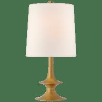 Lakmos Medium Table Lamp in Gild with Linen Shade