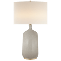 Culloden Table Lamp in Bone Craquelure with Linen Shade