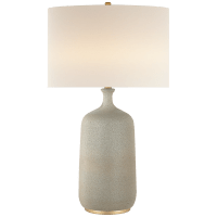 Culloden Table Lamp in Volcanic Ivory with Linen Shade
